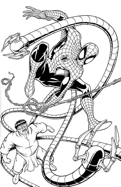 Spider Man Vs Doctor Octopus By Wolfehanson On Deviantart Doctor Octopus Coloring Pages