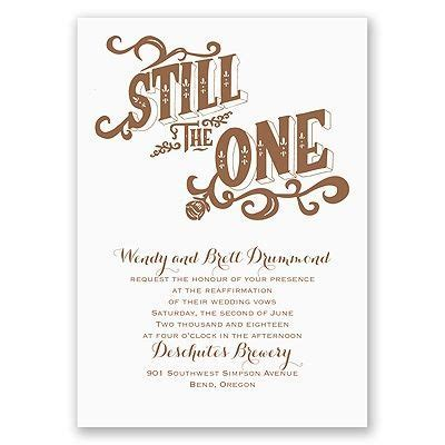 Still the One   Vow Renewal Invitation in 2019   Ideas for