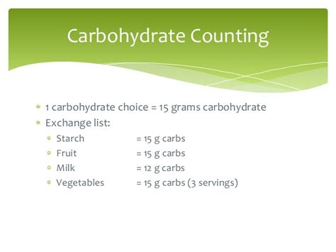 carbohydrates 15 grams carbohydrate counting