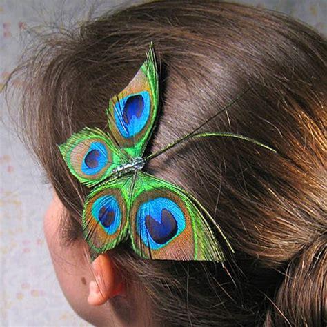 peacock hair accessory  etsy popsugar beauty