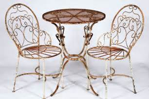 Wrought Iron Patio Table And Chairs 2 Wrought Iron Chairs And Table Set Metal Patio Furniture To Last Ebay