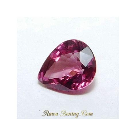 Batu Rhodolite Garnet batu permata rhodolite garnet purplish 1 30 carat pear