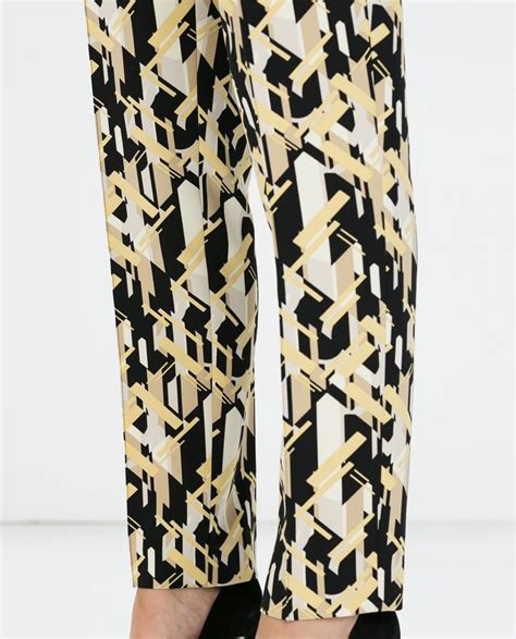 zara patterned jeans 160 best printy w sklepach aw14 images on pinterest zara