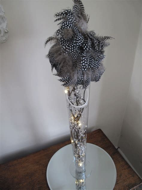 black feather centerpieces feather centerpieces favors ideas