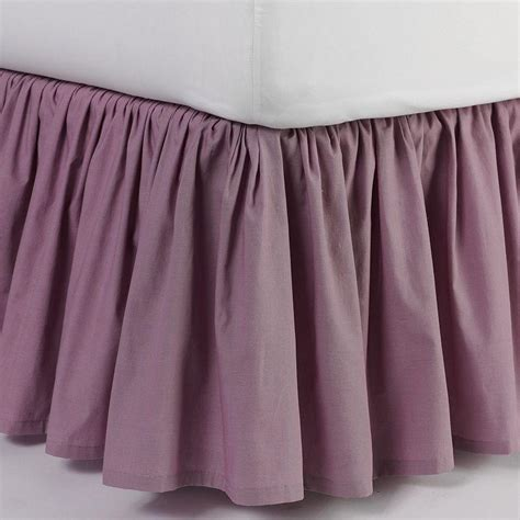 purple bed skirt lc lauren conrad ruffle bedskirt queen from kohl s epic