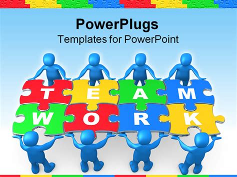 free teamwork powerpoint templates the gallery for gt puzzle background for powerpoint