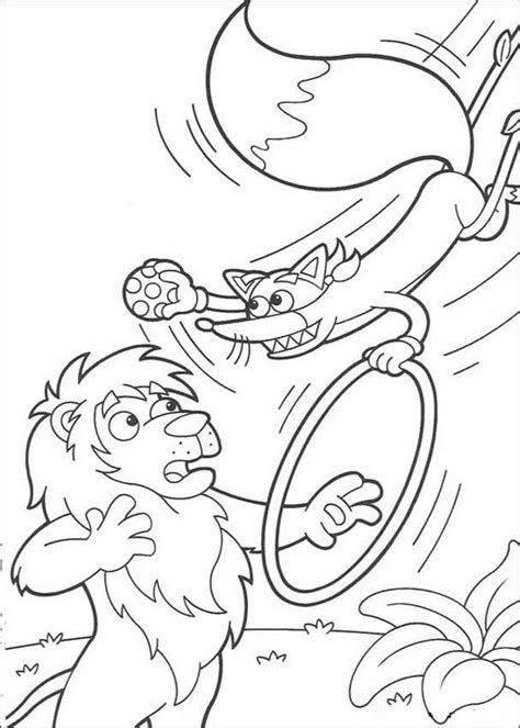 swiper the fox acrobat coloring pages hellokids com