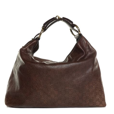 Gucci Chain Large Hobo by Gucci Guccissima Large Horsebit Chain Hobo Brown 105852