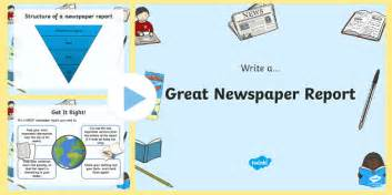 Writing A News Report Ppt by Newspaper Writing Tips Powerpoint Newspaper Writing Writing A