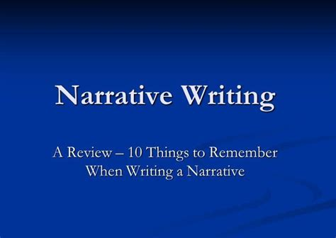Writing A Narrative Essay Powerpoint by 1000 Ideas About Teaching Narrative Writing On Narrative Writing Personal