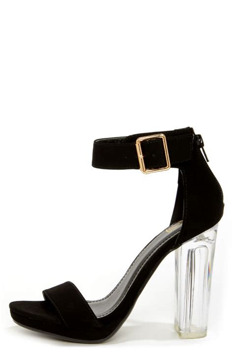 lucite high heels black heels lucite heels dress sandals 32 00