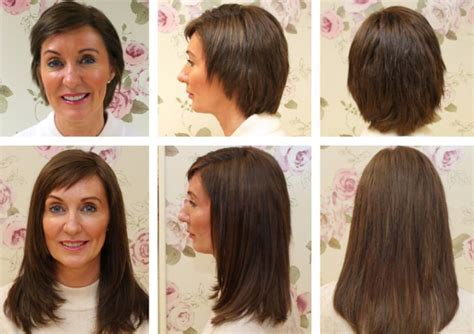 short hairstyles with hair extensions pictures before and after the hair extension boutique to and fromto and from