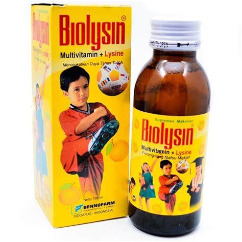 Vitamin Biolysin jual biolysin sirup 100 ml prosehat