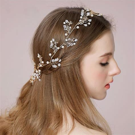 Cheap Hair Accessories For Weddings by Cheap Wedding Hair Vines For Brides Tiaras Bridal
