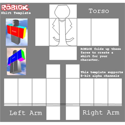 jacket template roblox