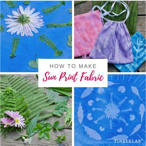 make printable fabric how to make sun prints on fabric tinkerlab