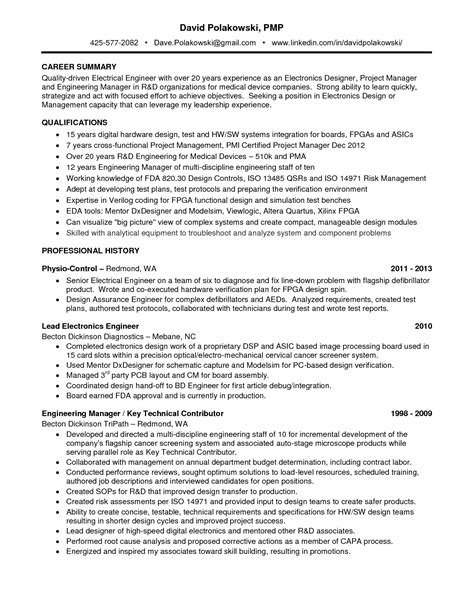 Electrical Project Engineer Sle Resume by 36 Winning Engineering Resume Sles That You Must See Vntask