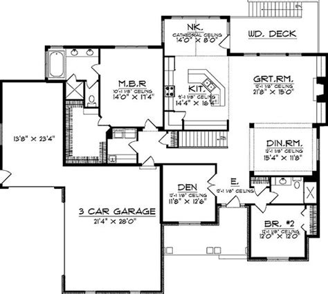 ranch with walkout basement floor plans ranch floor plans with walkout basement floor