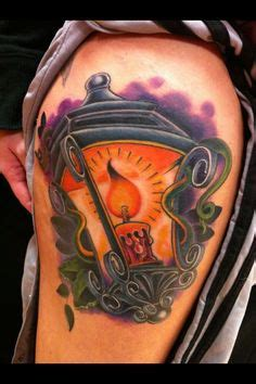 new school candle tattoo candle lantern new school leg tattoo by victor chil new