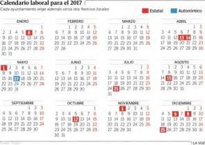 calendario 2017 con festivos marcados printable calendar