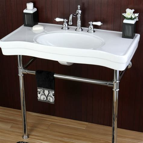 Vanity Pedestal Sink by Imperial Vintage 36 Inch Wall Mount Chrome Pedestal Bathroom Sink Vanity By Kingston Brass