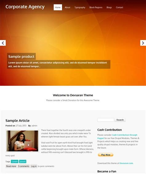 drupal themes regions 25 best 25 of the best free drupal business themes images
