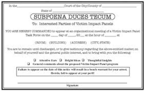 subpoena duces tecum template loan contract definition of check deception