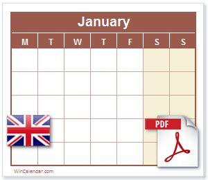 uk calendar  printable calendar