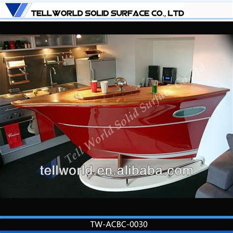 Popular Boat Shape Small Home Bar Counter For Sale Modern Design Home Kitchen Bar Counter Small Boat Shape