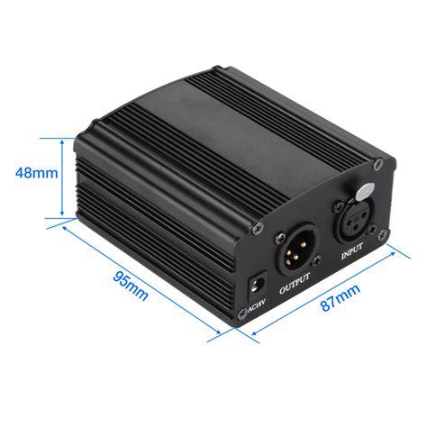 condenser microphone with phantom power 48v dc phantom power supply for condenser recording microphone us power adapter ebay