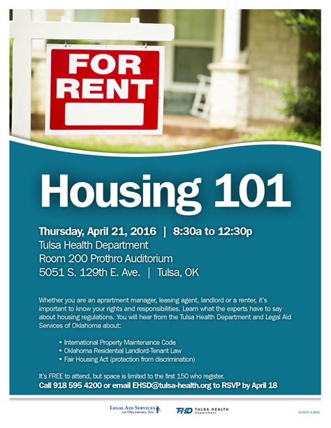 housing 101 april 21 2016 tulsa health department