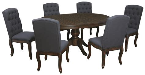 7 Piece Oval Dining Table Set With Upholstered Side Chairs Dining Table 7