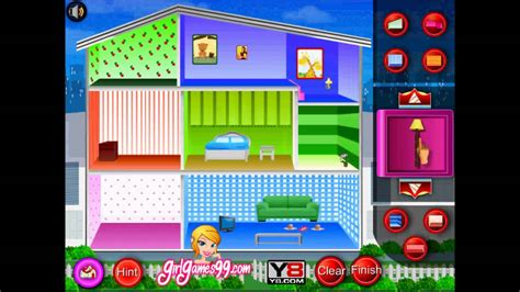 y8 doll house games doll house decoration game flash played by magicolo 2013 youtube