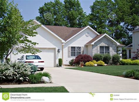 house and home home and a car stock photo image 2528360