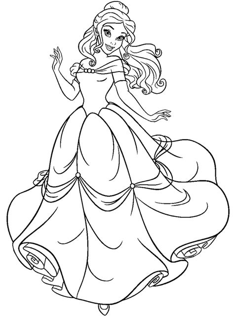 coloring pages of disney princess belle free beauty and the beast coloring pages http