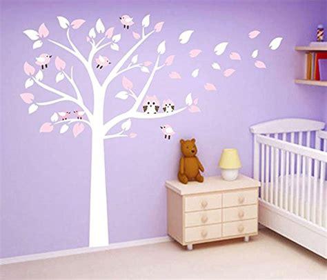 Wandtattoo Kinderzimmer Baum Weiss by Wandtattoo Baum Eule Wei 223 Reuniecollegenoetsele