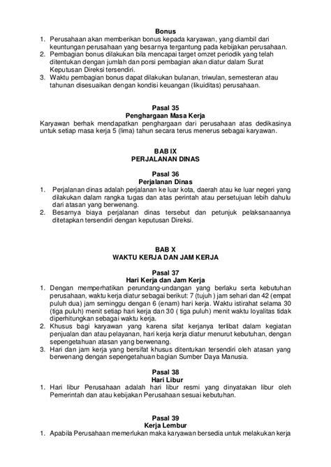 Contoh Surat Perjalanan Dinas Perusahaan Swasta by Contoh Peraturan Perusahaan Bucah