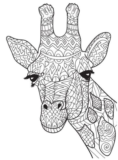 zentangle giraffe coloring pages ten adult coloring pictures for people who love april the