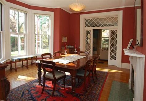 Red dining room victorian hooked on houses
