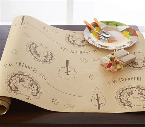 Craft Paper Table Runner - craft paper thanksgiving table runner pottery barn