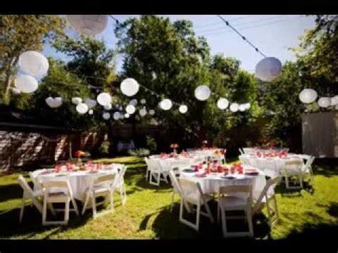 Simple Backyard wedding decorations ideas   YouTube