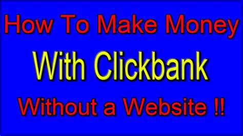 How To Make Money Online With A Website - how to make money with clickbank without a website make money online with no