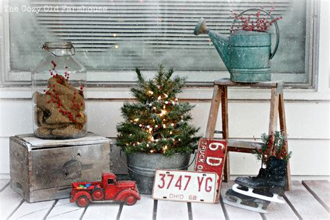 christmas milk can ideas pinterest the cozy quot farmhouse quot a quot quot porch