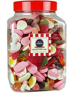 jelly mix selection jar sweet jars filled with traditional old fashioned candy uk sweetshop