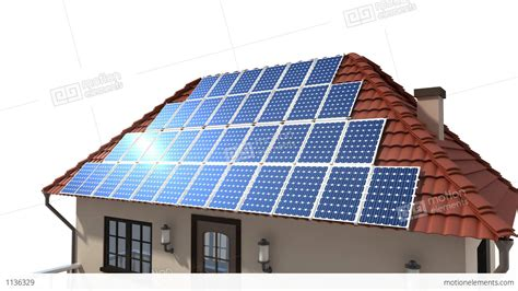 solar panels on roof mounting solar panels on the roof stock animation 1136329