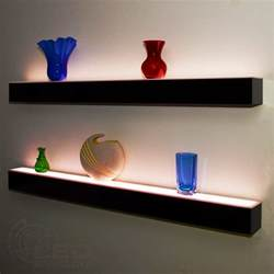 floating wall shelves 1 tier led floating shelf led lighted floating bar