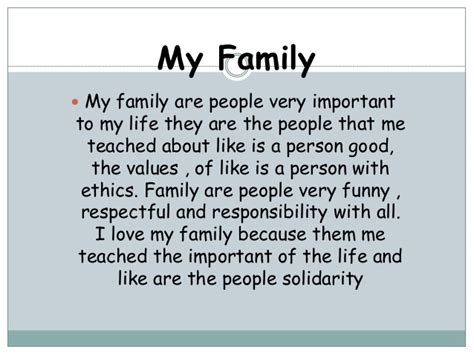 Essay On My Family In by Essay Writing About My Family My Family Paragraph Enotes