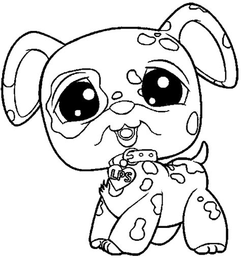 free coloring pages of little pet shop dogs