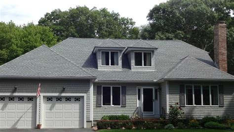 timberline pewter grey shingle with white siding architectural roof shingles mattapoisett ma