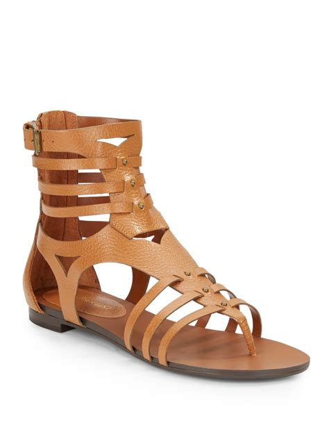 enzo angiolini sandals enzo angiolini pebble leather gladiator sandals in beige